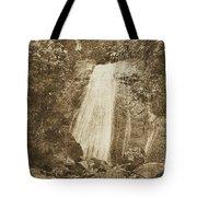 La Coca Falls El Yunque National Rainforest Puerto Rico Print Vintage Tote Bag by Shawn O'Brien