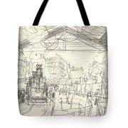 La Gare Saint Lazare Tote Bag by Claude Monet