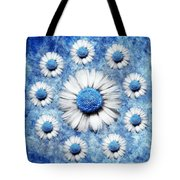 La Ronde Des Marguerites - Blue v05 Tote Bag by Variance Collections