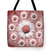 La Ronde Des Marguerites - Pink 02 Tote Bag by Variance Collections