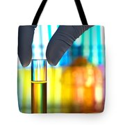 Laboratory Test Tube In Science Research Lab Tote Bag by Science Research Lab By Olivier Le Queinec