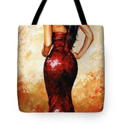 Lady In Red 035 Tote Bag by Emerico Imre Toth