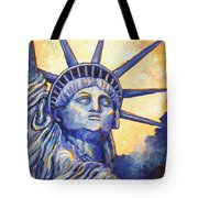 Lady Liberty Tote Bag by Linda Mears