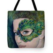 Lady Peacock Tote Bag by Dorina  Costras