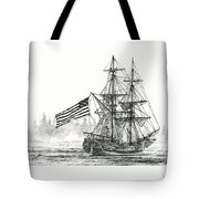 Lady Washington At Friendly Cove Tote Bag by James Williamson