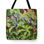 Ladybirds Tote Bag by Andrew Macara