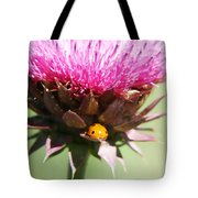 Ladybug And Thistle Tote Bag by Marilyn Hunt