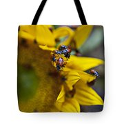 Ladybugs Close Up Tote Bag by Garry Gay