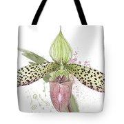 Ladys Slipper - Orchid 16n - Elena Yakubovich Tote Bag by Elena Yakubovich