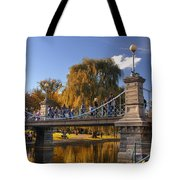 Lagoon Bridge In Autumn Tote Bag by Joann Vitali