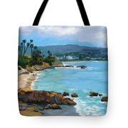 Laguna Beach Winter Tote Bag by Alice Leggett