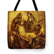 Laid_in_the_Tomb Via Dolorosa 14 Tote Bag by Lianne Schneider