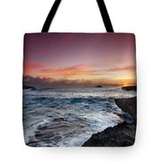Laie Point Sunrise Tote Bag by Sean Davey