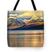 Lake Mcdonald Sunset Tote Bag by Adam Jewell