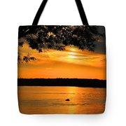 Lake Panarama Sunset Tote Bag by Bob Hislop