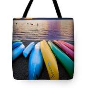 Lake Quinault Kayaks Tote Bag by Inge Johnsson
