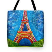 L'amour A Paris Tote Bag by Teshia Art