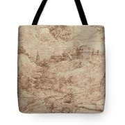 Landscape With A Dragon And A Nude Woman Sleeping Tote Bag by Titian