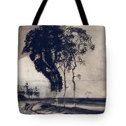 Landscape With Three Trees Tote Bag by Victor Hugo