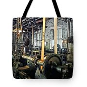 Large Lathe In Machine Shop Tote Bag by Susan Savad