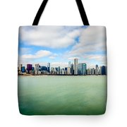 Large Picture Of Downtown Chicago Skyline Tote Bag by Paul Velgos