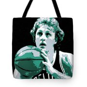 Larry Bird Poster Art Tote Bag by Florian Rodarte