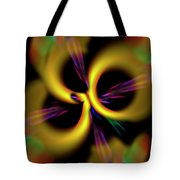 Laser Lights Abstract Tote Bag by Carolyn Marshall