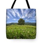 Last Tree Tote Bag by Debra and Dave Vanderlaan