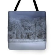 Late Snow At The Rio Grande Tote Bag by Ellen Heaverlo