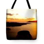 Late Sunset Santorini  Island Greece Tote Bag by Colette V Hera  Guggenheim