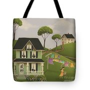 Laundry Day Tote Bag by Catherine Holman