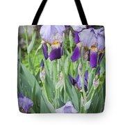 Lavender Iris Group Tote Bag by Teresa Mucha