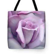 Lavender Rose Flower Portrait Tote Bag by Jennie Marie Schell