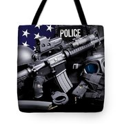 Law Enforcement Tactical Police Tote Bag by Gary Yost