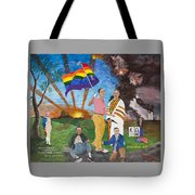 Leading Obama Left Tote Bag by Mark Robbins
