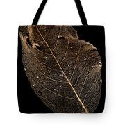 Leaf Lace Tote Bag by Anne Gilbert