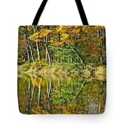 Leaning Trees Tote Bag by Frozen in Time Fine Art Photography