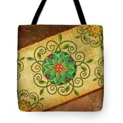 Leaves Rosette 1 Tote Bag by Bedros Awak