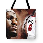 Lebron James Artwork 2 Tote Bag by Sheraz A