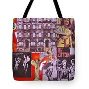 Led Zeppelin  Collage Number Two Tote Bag by Donna Wilson