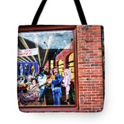 Legends Bar In Downtown Nashville Tote Bag by Dan Sproul