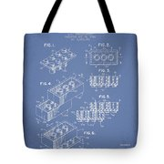 Lego Toy Building Brick Patent - Light Blue Tote Bag by Aged Pixel