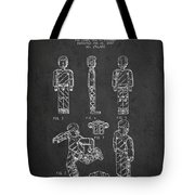 Lego Toy Figure Patent - Dark Tote Bag by Aged Pixel