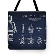 Lego Toy Figure Patent Drawing Tote Bag by Aged Pixel