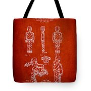 Lego Toy Figure Patent - Red Tote Bag by Aged Pixel