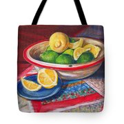 Lemons And Limes Tote Bag by Joy Nichols