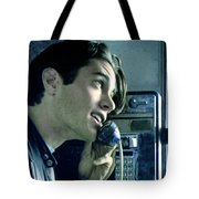 Leo Johnsone .. Are You Telling Me There's No Santa Claus Tote Bag by Twin Peaks