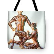Leopard People Tote Bag by Andrew Farley