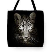Leopard Portrait In The Dark Tote Bag by Johan Swanepoel