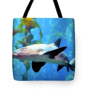 Leopard Shark Watercolor Tote Bag by Barbara Snyder